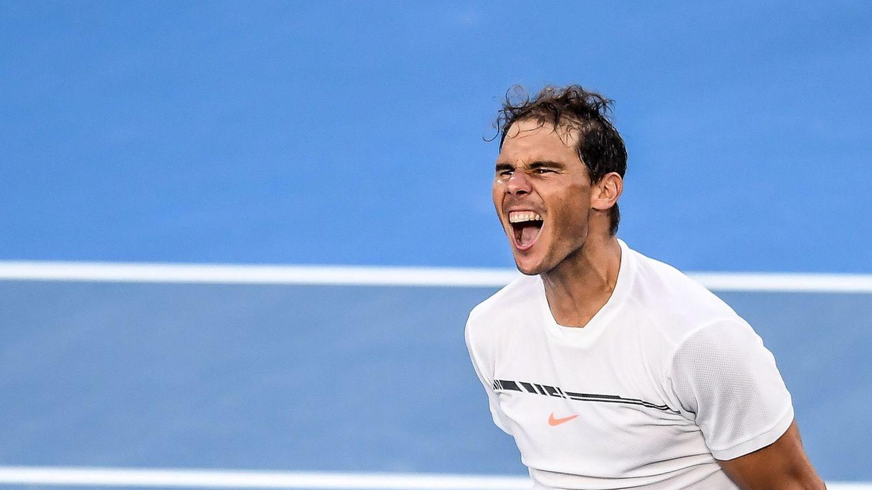 Foto: Nadal celebra su victoria ante Zverev (EFE)