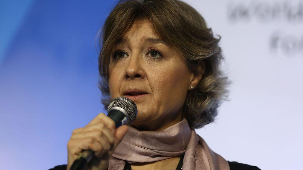 Foto: isabel García Tejerina, durante el Foro Mundial del Agua (EFE)