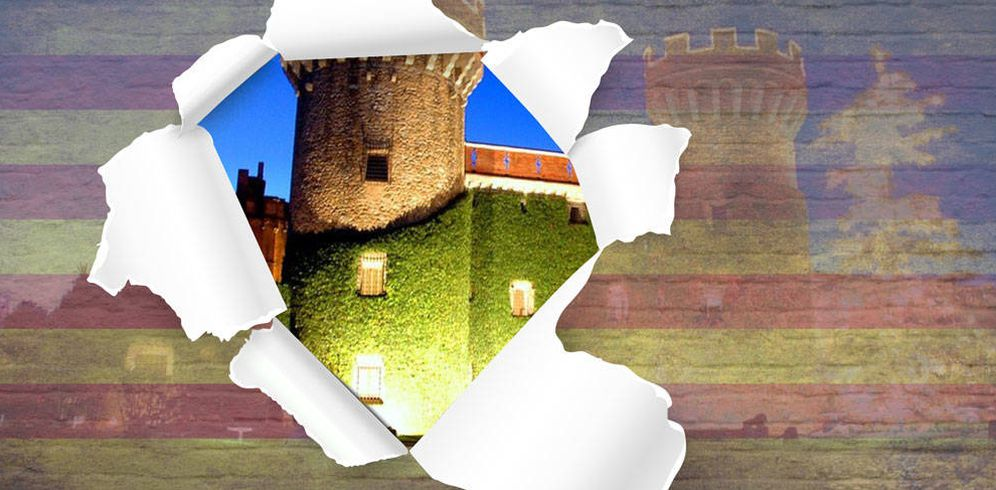 Foto: Castillo de Peralada en un fotomontaje realizado por Vanitatis.
