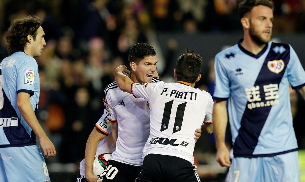 El Valencia aguanta la embestida del Rayo y Paco Jémez carga contra el arbitraje