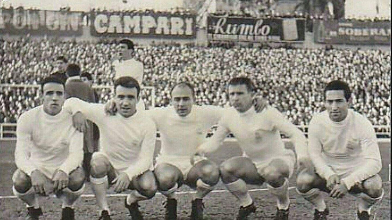 Canario, Del Sol, Di Stéfano, Puskas y Gento. (Real Madrid)