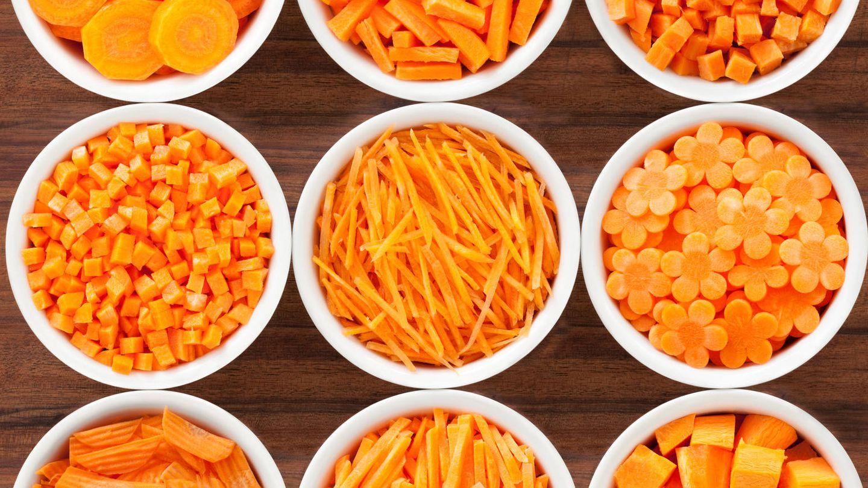 Diferentes formas de cortar la zanahoria. (iStock)