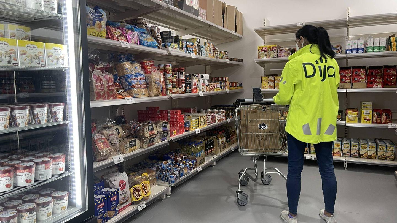 Interior de uno de los supermercados de Dija. (M. Mc.)