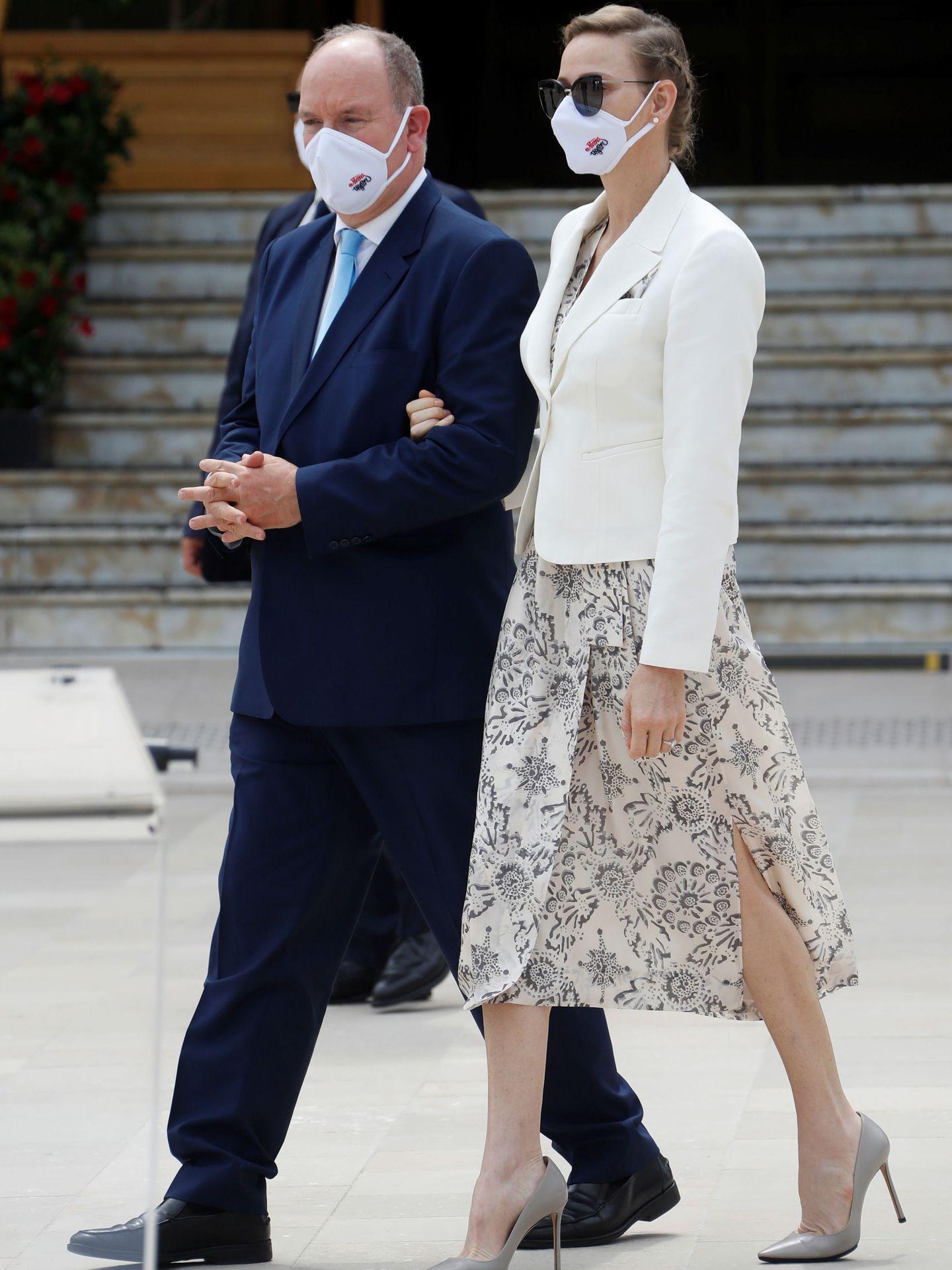 Alberto y Charlène de Mónaco. (Reuters)
