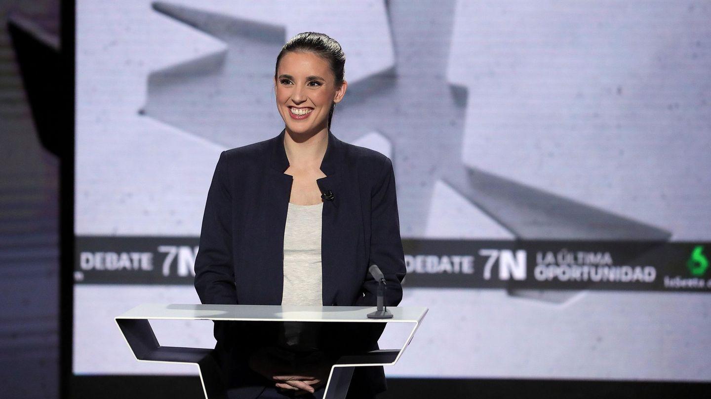 Irene Montero, en el debate de La Sexta. (EFE)