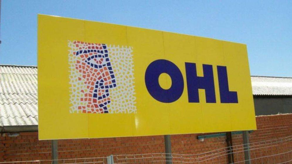 Foto: Un cartel de OHL