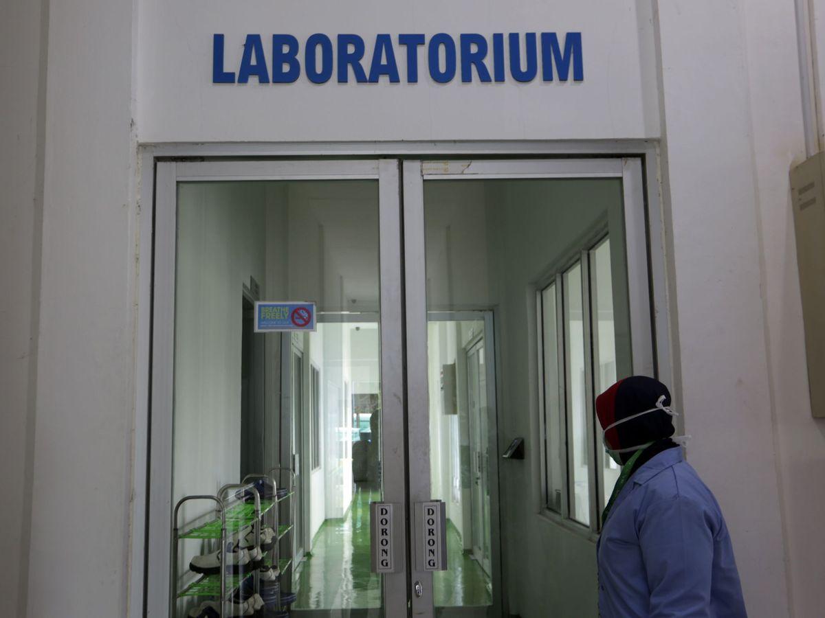 Foto: Un laboratorio de Covid-19 en Indonesia (EFE).