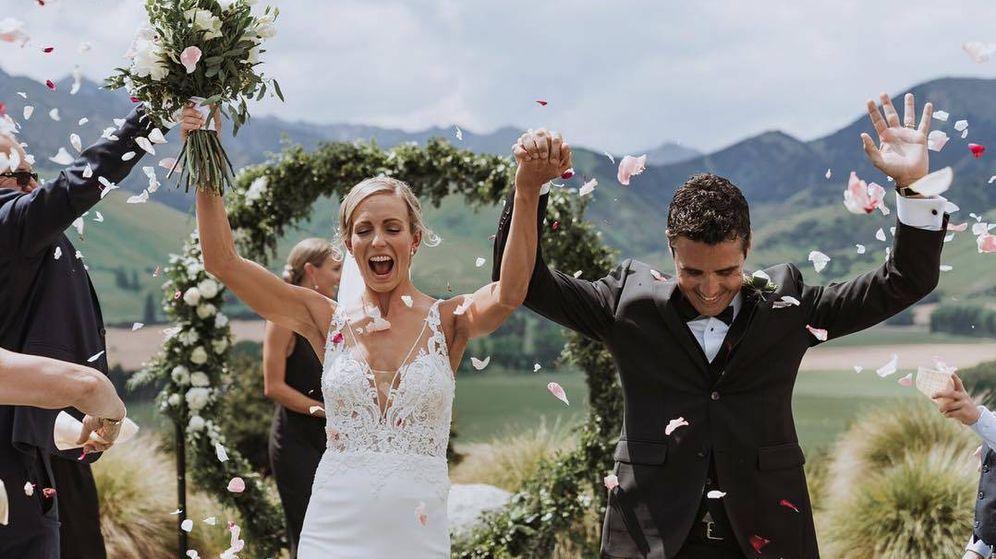 Foto:  Javier y Anneke en su boda. (@danieljayweddings)