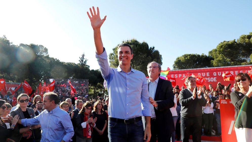 Foto: Acto de cierre de campaña del PSOE en Madrid. (EFE)