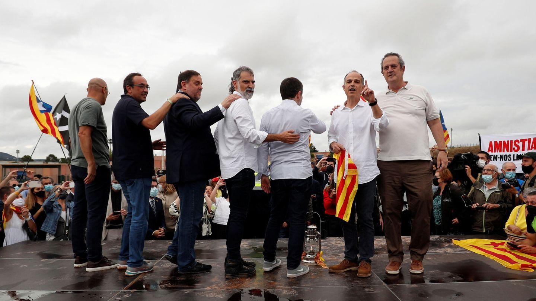 Salida de los presos del 'procés' de prisión. (Reuters)