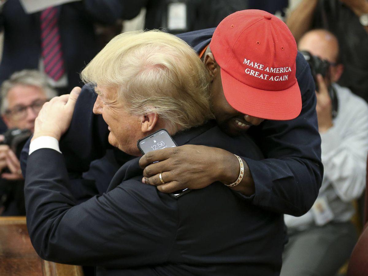 Foto: Kanye West y Donald Trump. (Getty)