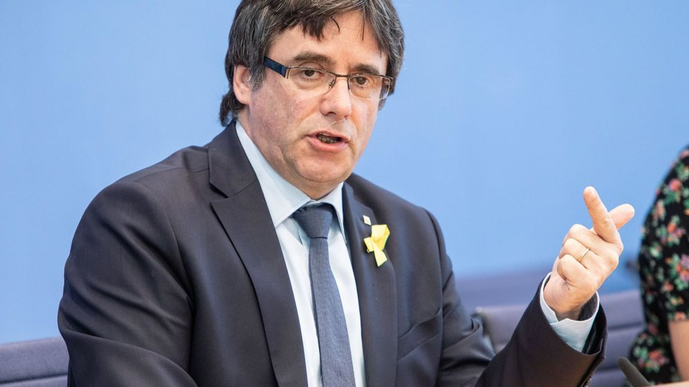 Foto: El expresidente catalán Carles Puigdemont, en rueda de prensa en Berlín. (EFE)