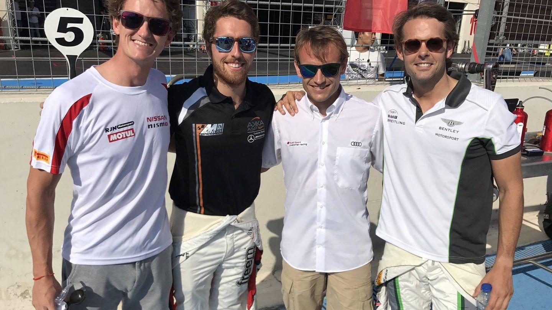 Lucas Ordóñez, Dani Juncadella, Antonio García y Andy Soucek.