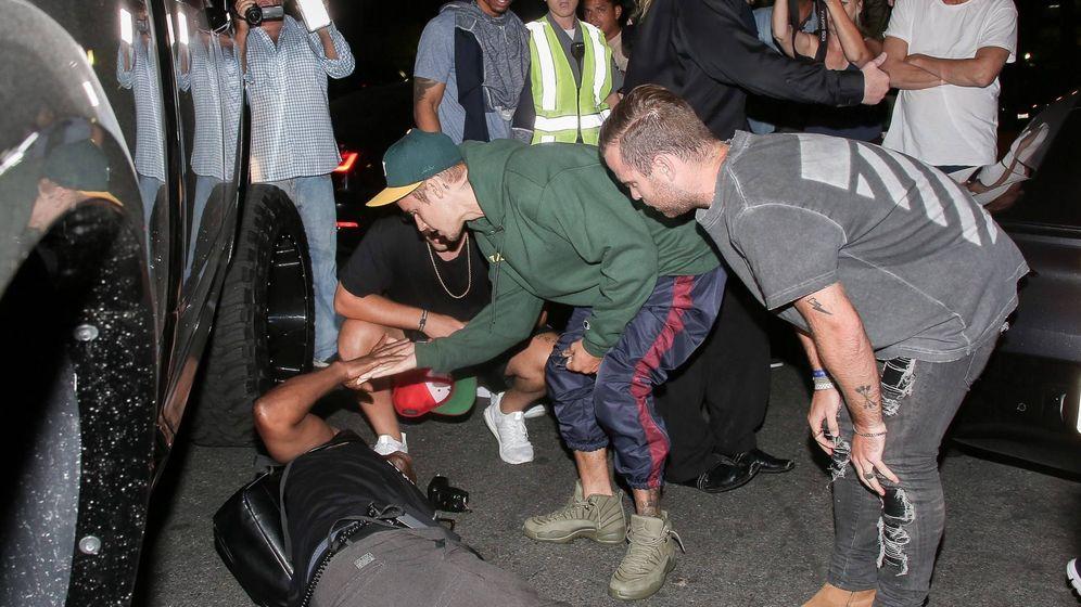 Foto: Justin Bieber tras atropellar al fotógrafo. (Cordon Press)
