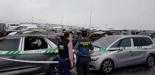 Post de Un incendio daña medio centenar de vehículos nuevos en el Puerto de Vigo