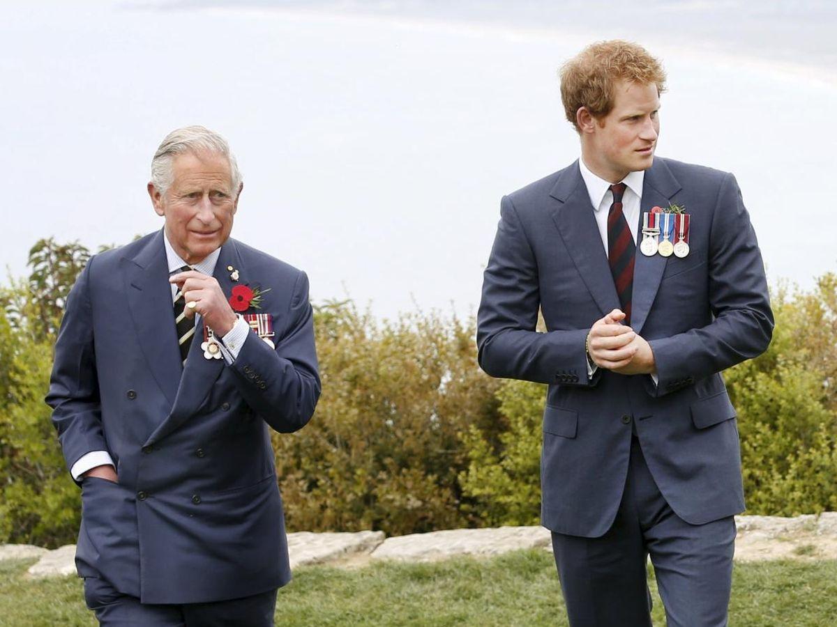Foto: Carlos y Harry, en una imagen de archivo. (Reuters)