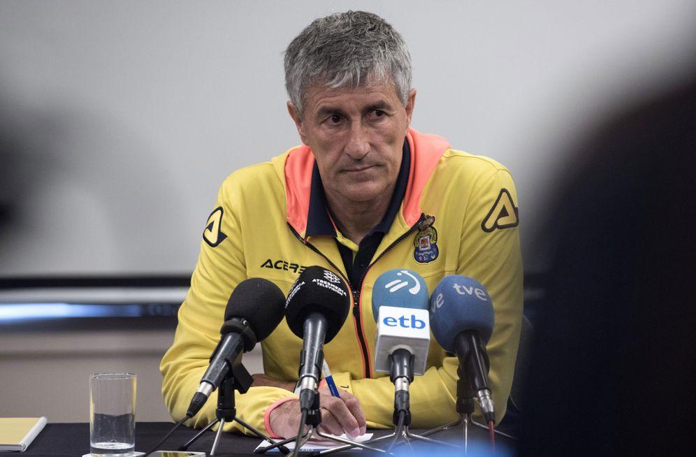 Foto: En la imagen Quique Setién durante una rueda de prensa. (EFE)