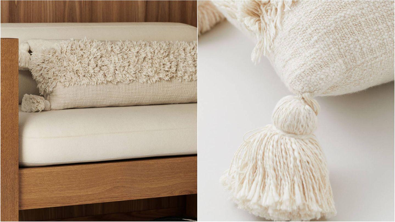 Cojines originales y cómodas de HyM Home. (Cortesía)