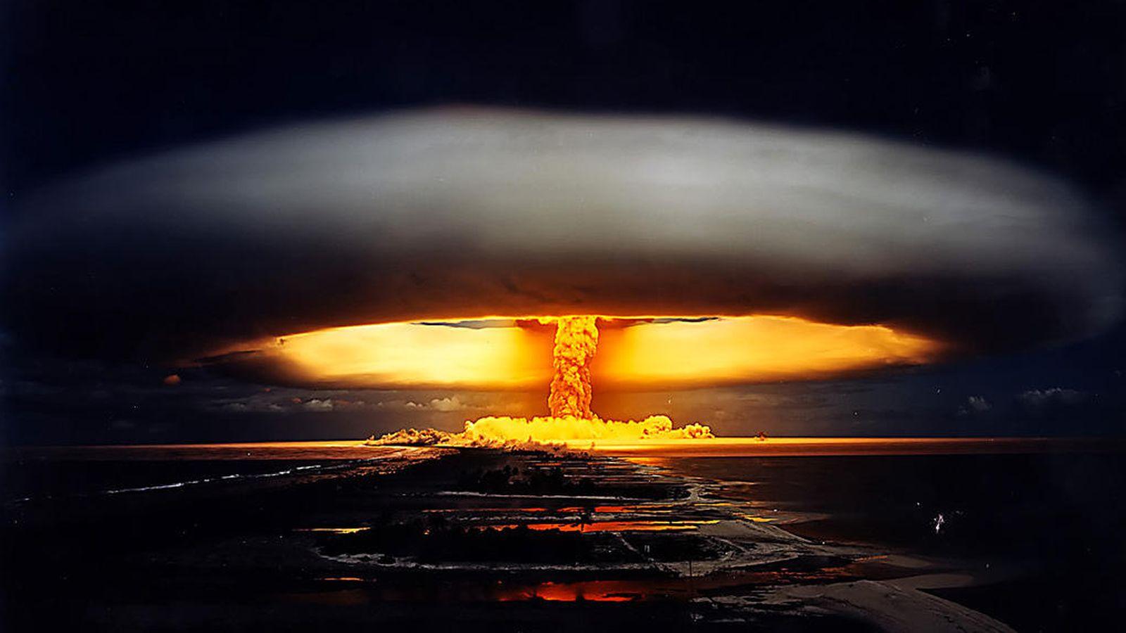 Foto: Ejemplo de hongo nuclear