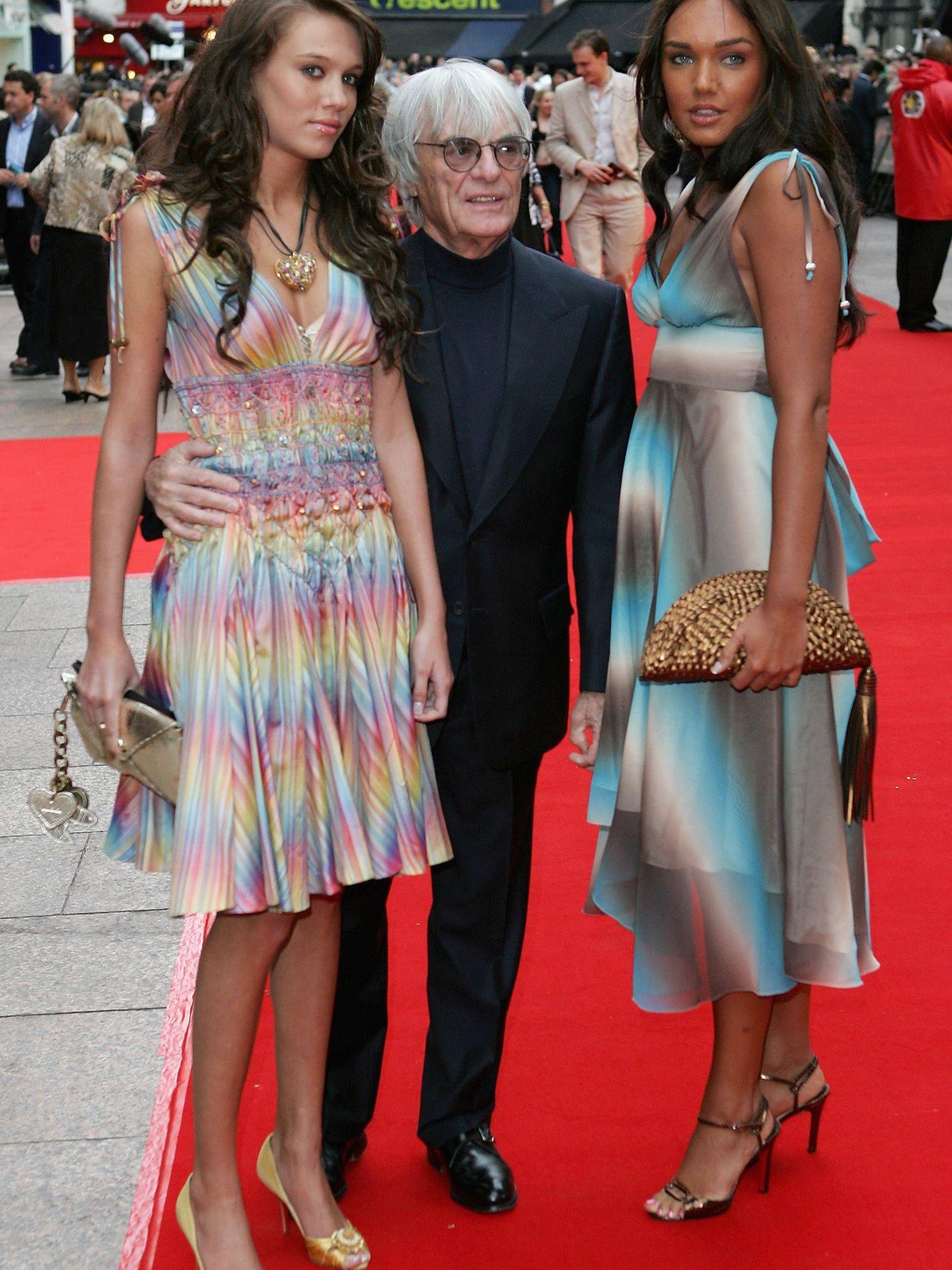 Con sus hijas Tamara y Petra. (Getty)