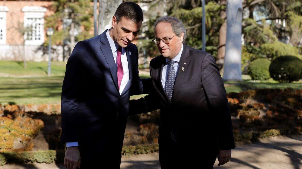 Foto: Pedro Sánchez y Quim Torra. (EFE)