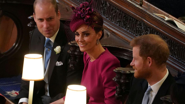 Los duques antes de que empezara la ceremonia. (Reuters)