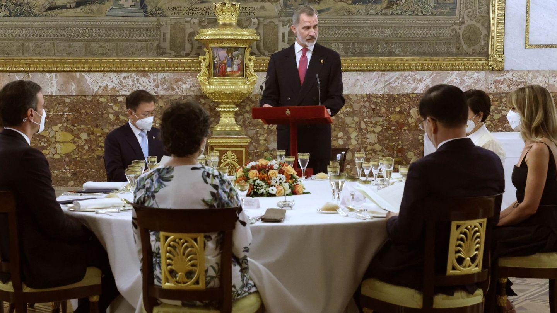 La cena en el comedor de gala. (EFE)