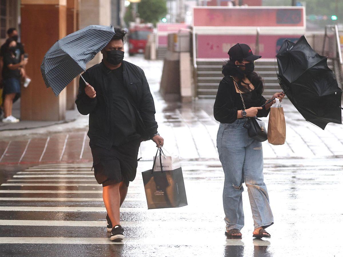 Foto: Intensa lluvia en Taiwán. (Reuters)