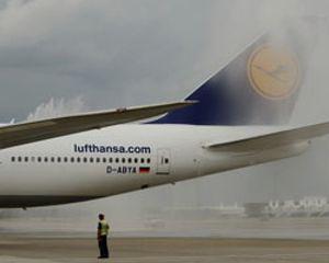 Lufthansa aumentó un 3,6% su transporte de pasajeros