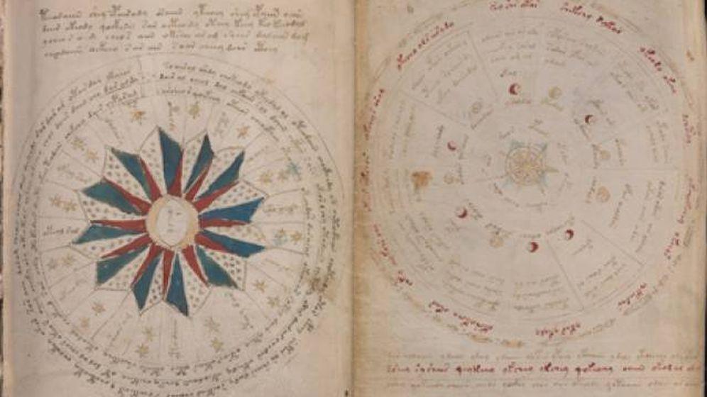 Foto: Una página del manuscrito Voynich. (Yale University Press)