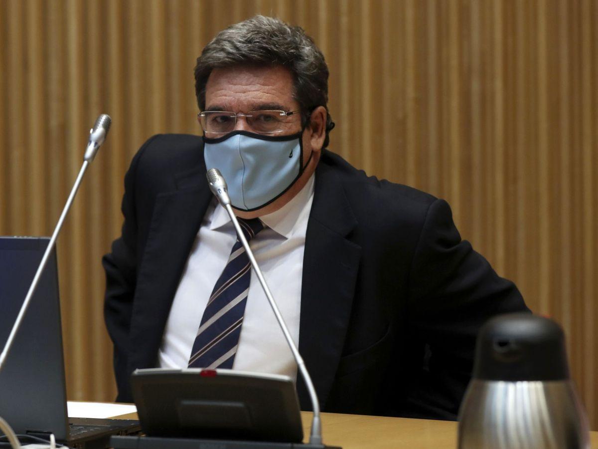 Foto: El ministro de Inclusión y Seguridad Social, José Luis Escrivá, durante su comparecencia. (EFE)