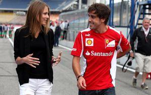 Dasha Kapustina se distancia de Fernando Alonso