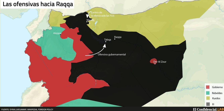 Cerco a Raqqa, la capital del Estado Islámico