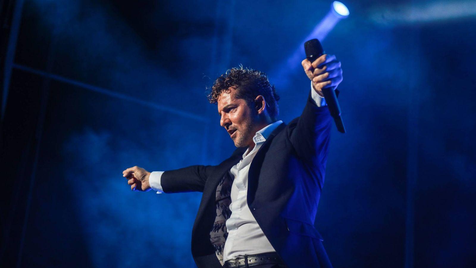 Foto: David Bisbal, durante el concierto. (Foto: Equipo Starlite)