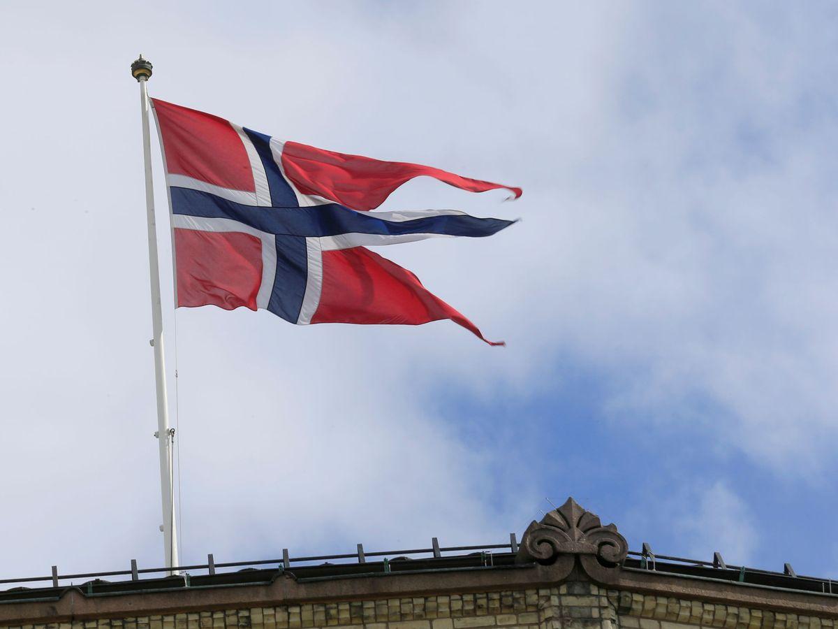 Foto: La bandera de Noruega. (Reuters)