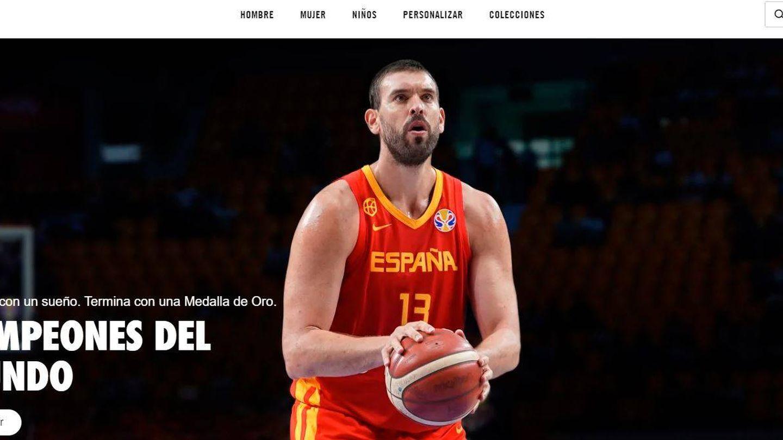 Portada de la tienda oficial de Nike España celebrando el Mundial de basket.