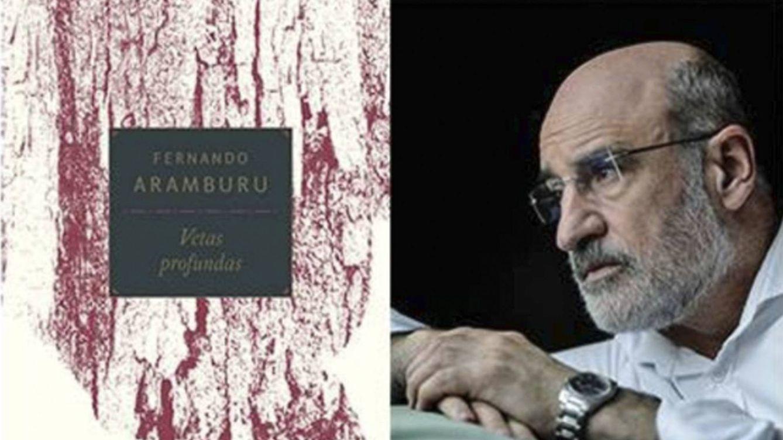 Foto: A la izquierda, portada de 'Vetas profundas', y a su lado, retrato del escritor vasco.