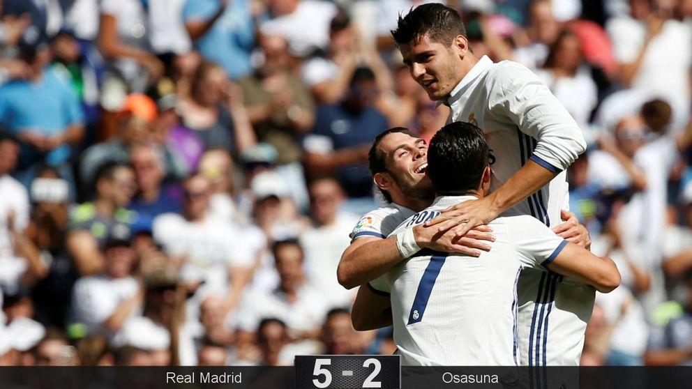 El Real Madrid con la receta de siempre: la pegada de un peso pesado
