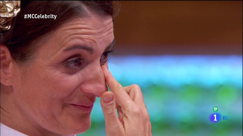 Silvia Abril llora en la final de 'MasterChef Celebrity 2'. (RTVE)