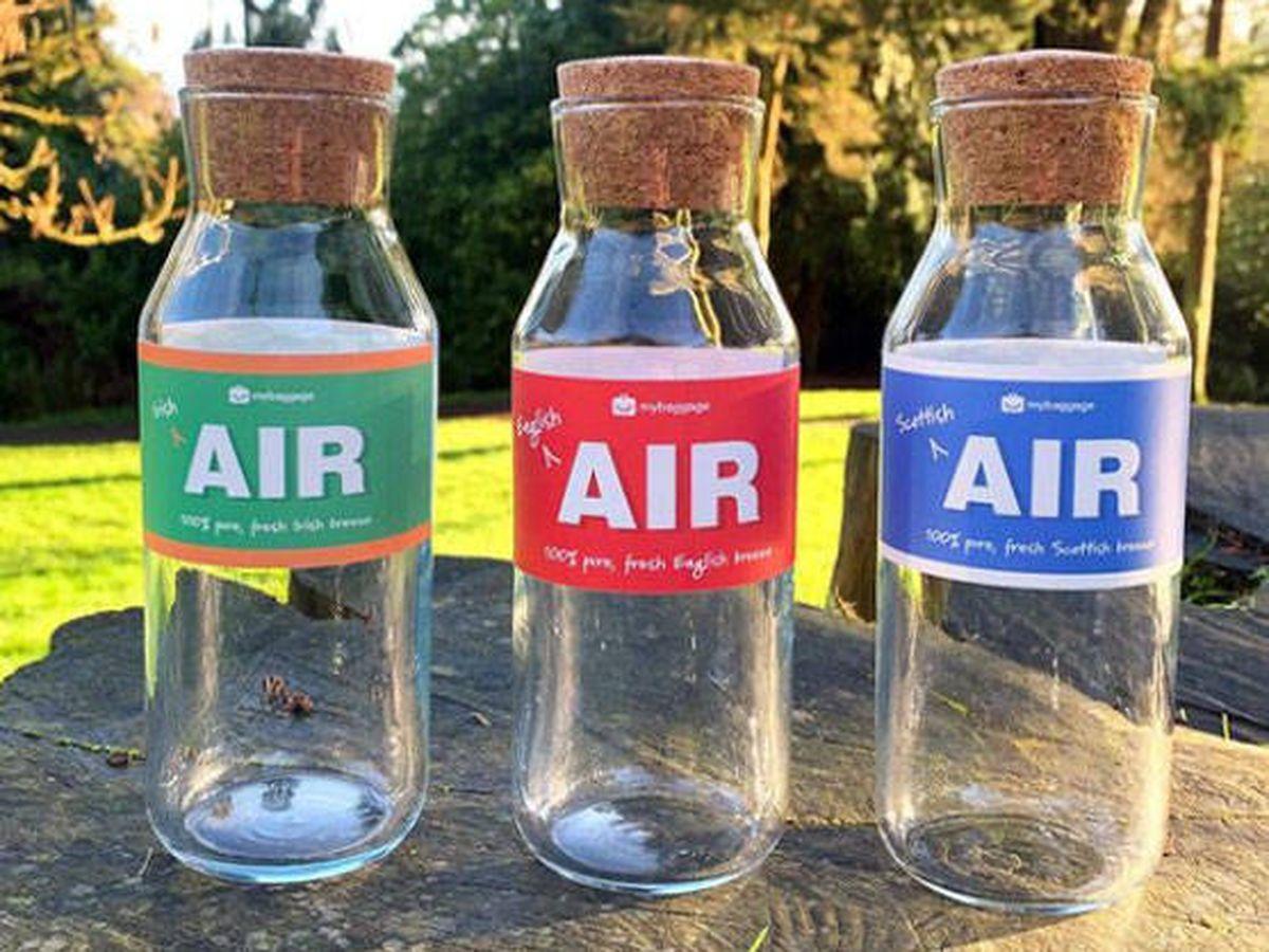"Foto: Botellas de aire ""premium"" de Reino Unido (Foto: Instagram)"