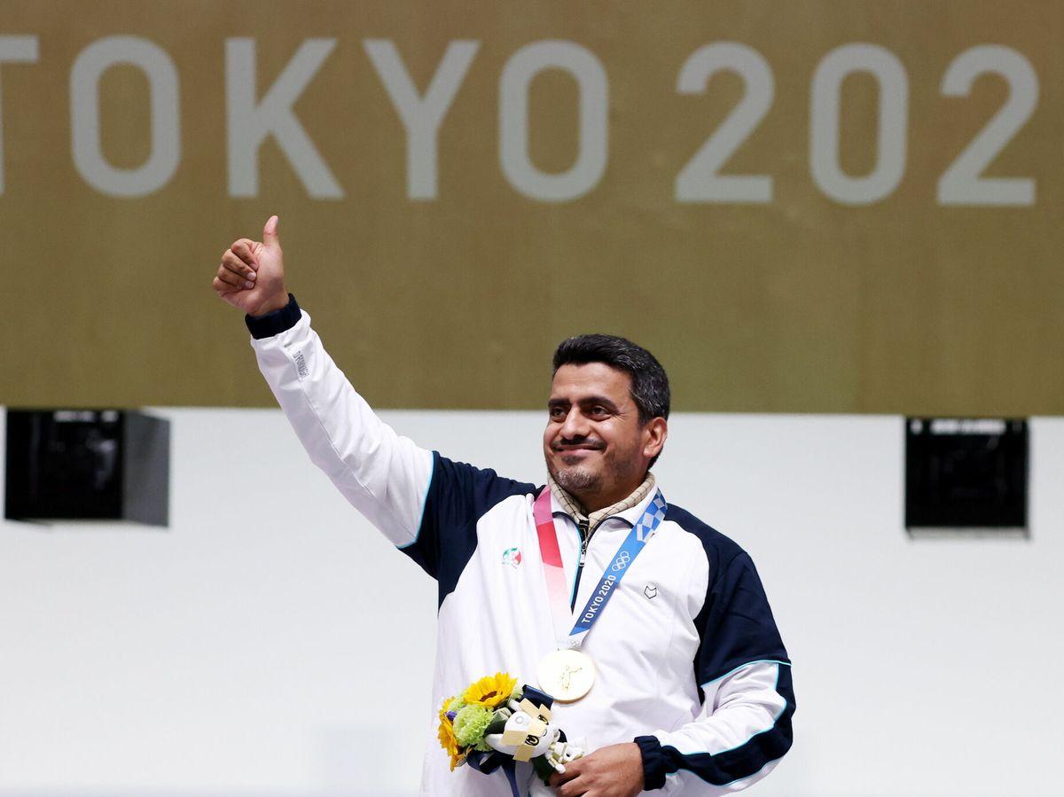 Foto: Javad Foroughi consiguió la primera medalla de oro para Irán en Tokio 2020. (EFE)