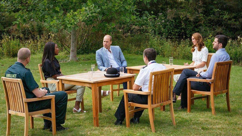 Los duques de Cambridge, en la reunión. (Instagram @kensingtonroyal)