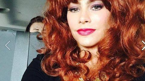 Sofía Vergara, con peluca a lo 'Matrimonio con hijos'