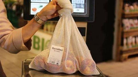 Carrefour sustituye sus bolsas de plástico por mallas de algodón para la fruta