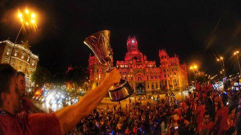 La celebración de la Selección: los campeones ya están en la Plaza de Colón