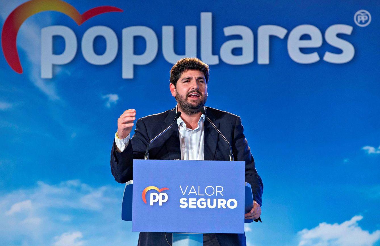 El presidente de Murcia, Fernando López Miras, el pasado 6 de abril. (EFE)