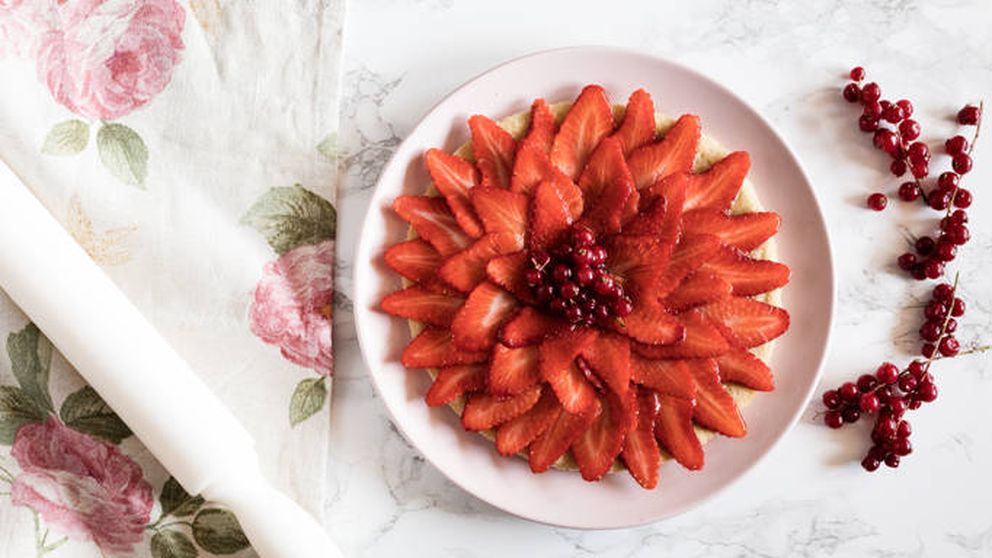 Trucos para hacer una tarta de galletas de mantequilla y fresa