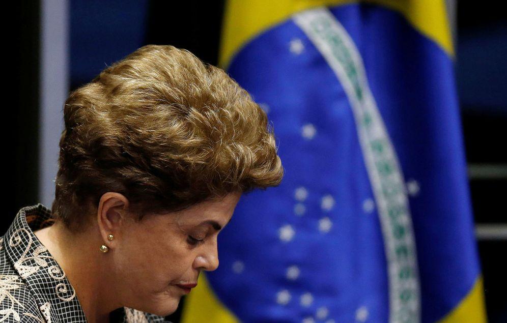 Foto: Dilma Rousseff, en la votación final del 'impeachment' celebrada en el Senado brasileño, en Brasilia. (Reuters)