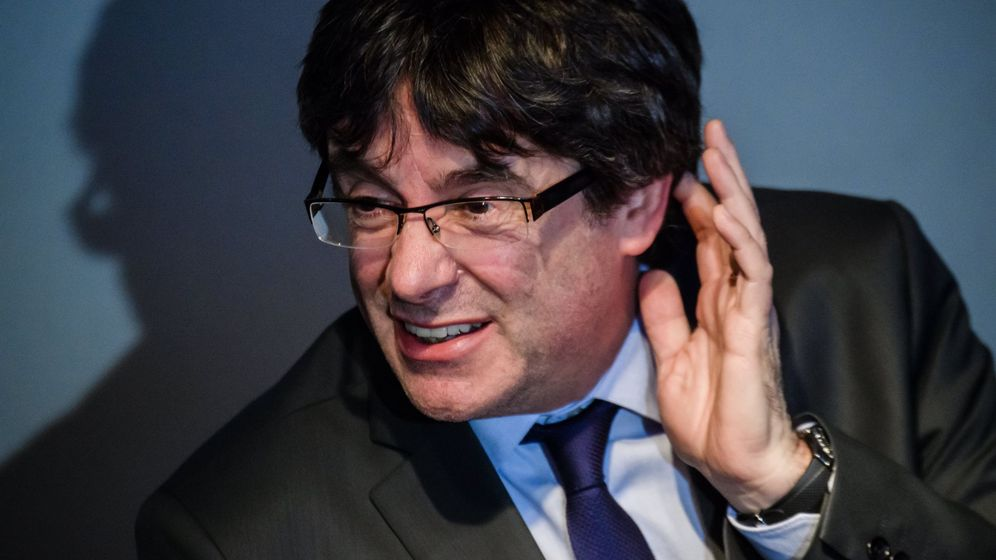 Foto: Puigdemont en una rueda de prensa en Alemania. (EFE)