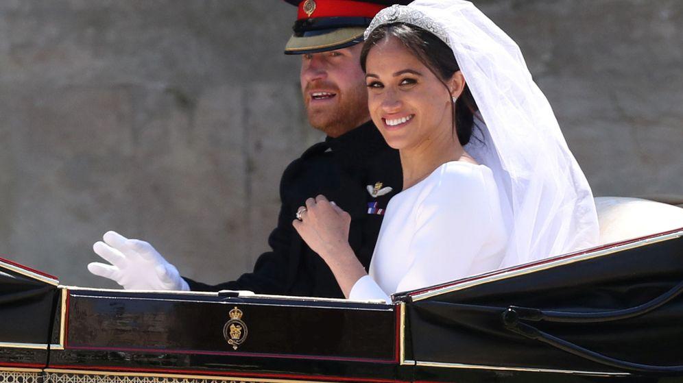 Foto: Harry y Meghan, el día de su boda. (Reuters)